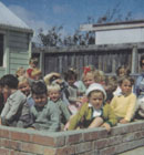 Everybody in the sandpit in 1961 at Hillmorton kindergarten.