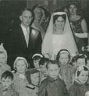 The children attend the wedding of one of our popular kindergarten teachers.